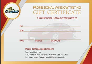 Automotive Gift Certificate