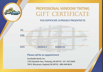 Residential Gift Certificate